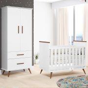 Quarto de Bebê com Berço + Guarda Roupa Retro Gabi - Phoenix Baby
