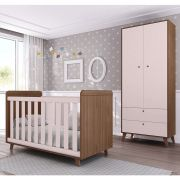 Quarto de Bebê Retrô com Guarda Roupa + Berço  Multimóveis