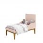 Dormitório Infantil Completo Com Guarda Roupa 3 Portas, Cômoda e Berço Padrão Americano Classic Rosa Fosco- Reller Móveis
