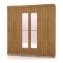 Guarda-Roupa 6 Portas Elegance Com Espelho - Vila Rica  Canela