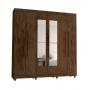 Guarda-Roupa 6 Portas Elegance Com Espelho - Vila Rica Imbuia