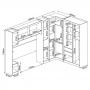 Guarda Roupa Modulado Módena Casal Composição 18 Amêndola Touch / Branco Demóbile
