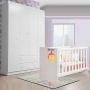 Quarto Infantil Com Guarda Roupa 4 Portas + Berço Mini Cama Katatu - EM Moveis