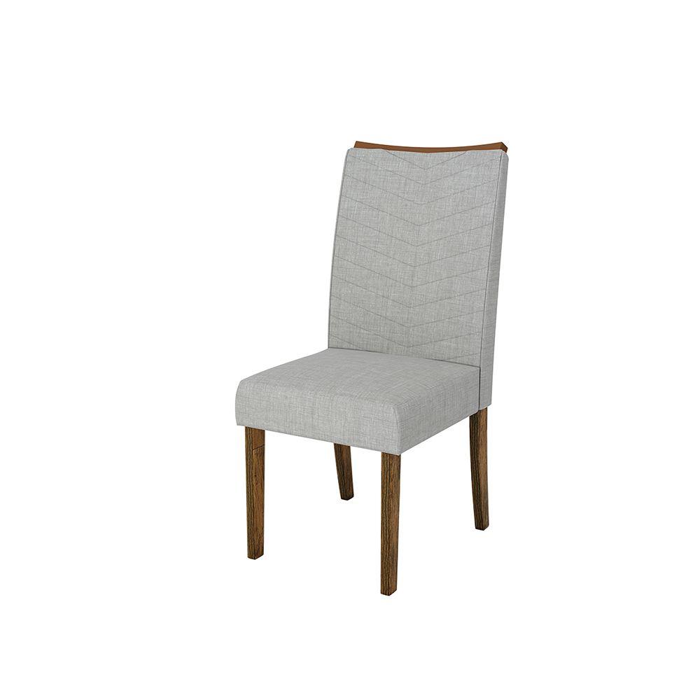 Conjunto 2 Cadeiras Serena Encosto e Assento com Espuma - Dj Móveis