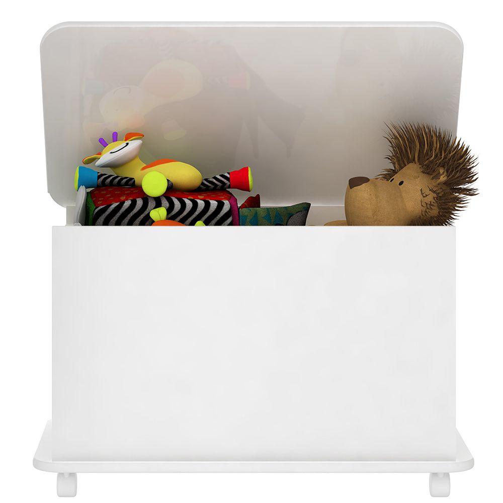 Caixa de Brinquedos com Rodízios BB 710 Branco Completa Móveis