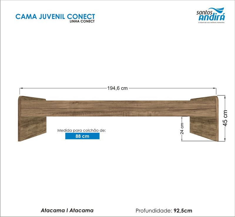 Cama Juvenil Conect - Atacama