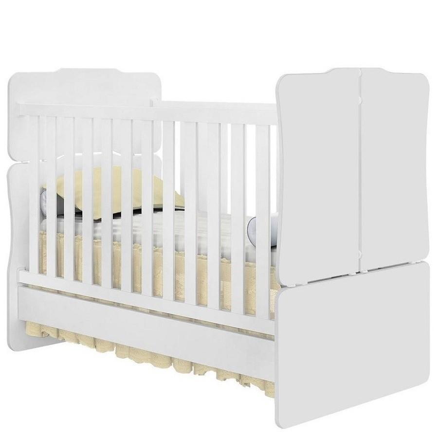 Cômoda 4 Gavetas E 1 Porta Livia + Berço Mini Cama 230- Phoenix Baby