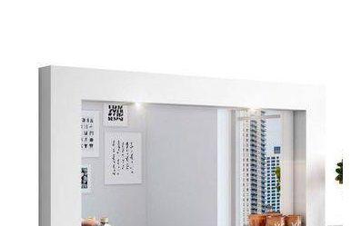 Penteadeira Suspensa Gloss com Led - Branco Fosco - Mobler