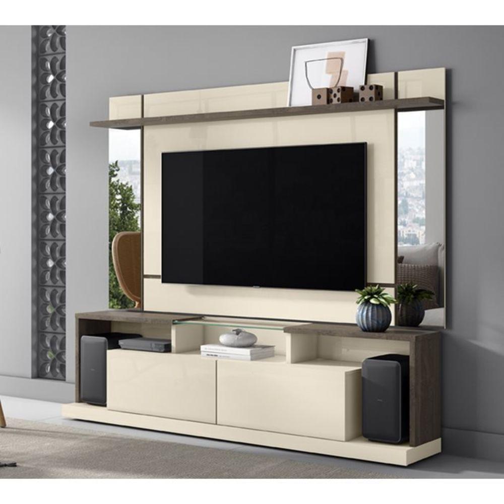 Home Doha Para Tv 65 Polegadas Com Espelho Off White Madero - Mobler