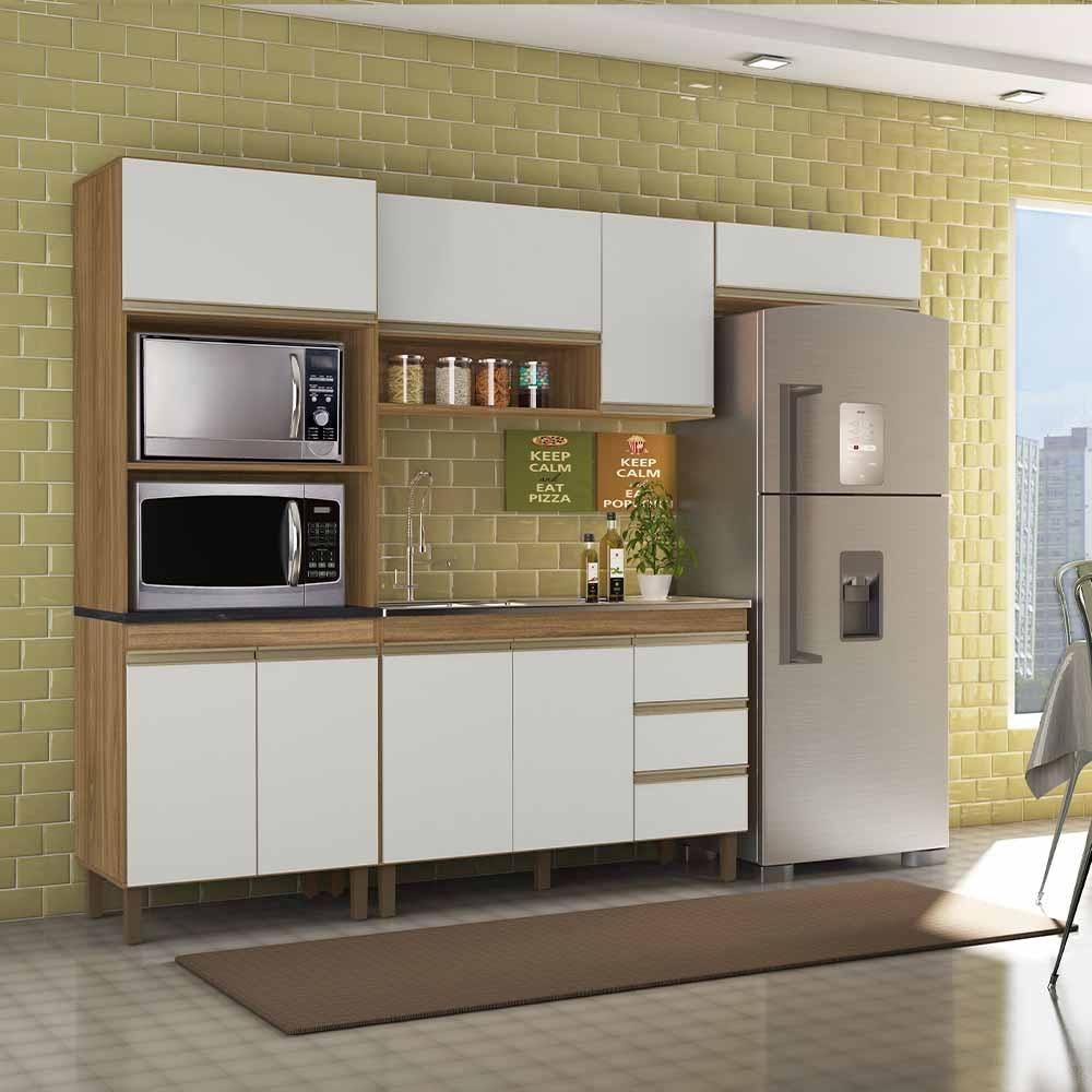 Cozinha Modulada 4 Peças 5550 Karen Nature/Branco Off - Peternella