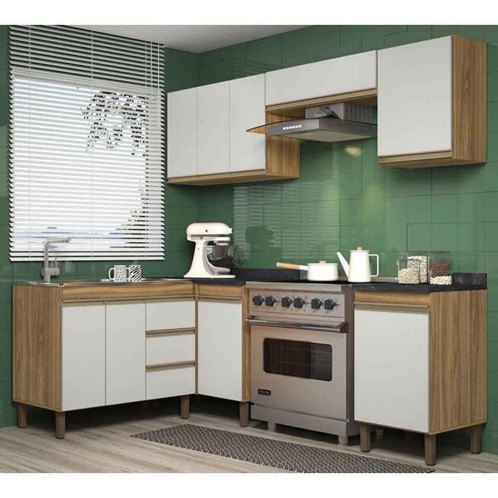 Cozinha Modulada 8 Peças 7700 Karen - Nature/Off  - Peternella