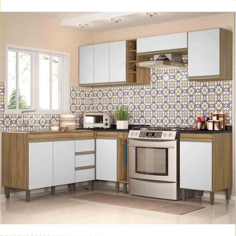 Cozinha Modulada 8 Peças 7800 Karen - Nature/Off Peternella