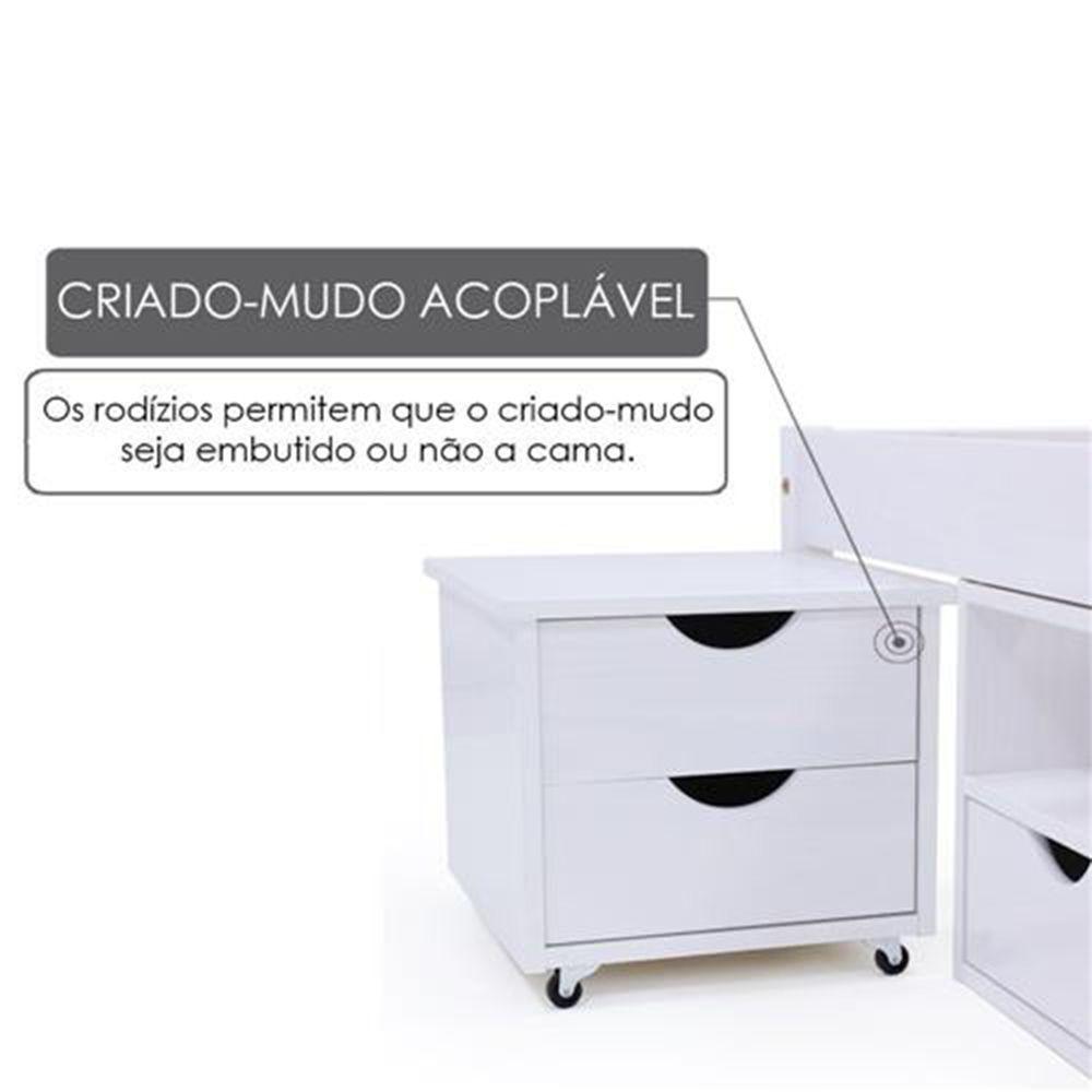 Criado Mudo 2 Gavetas Conect Santos Andirá