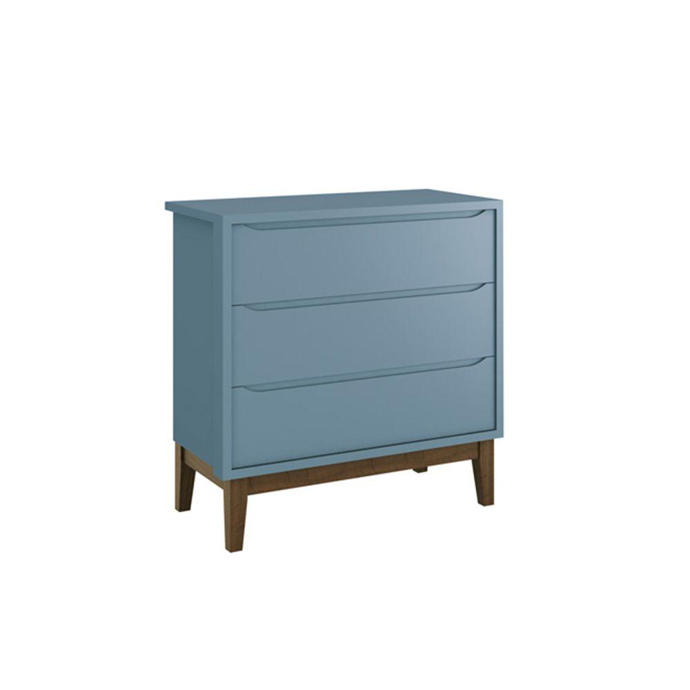 Dormitório Classic Retrô Com Guarda Roupa 2 Portas + Cômoda + Berço Mini Cama - Reller