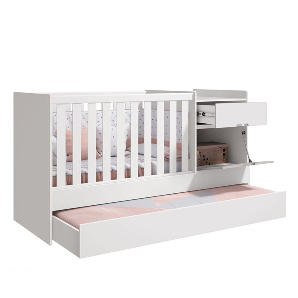 Quarto De Bebê Vitória Com Guarda Roupa + Cômoda + Berço Cama - Reller