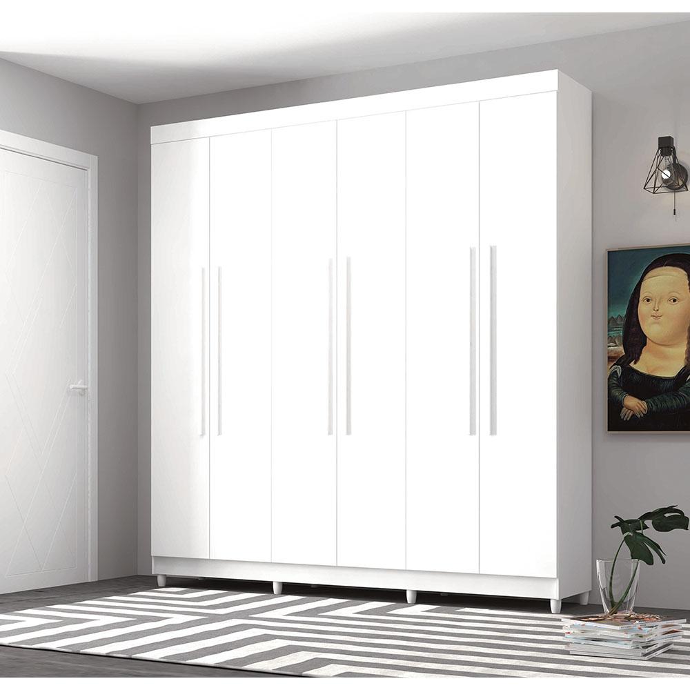 Guarda-Roupa 6 Portas Elegance - Vila Rica Branco