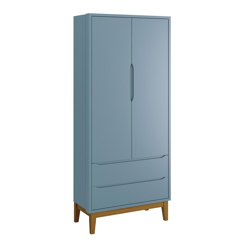 Guarda Roupa Infantil 2 Portas Classic Azul Fosco – Reller