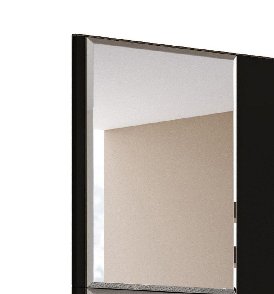 Painel Venice Para Tv 58 Polegadas Com Espelho Preto Nature - Mobler