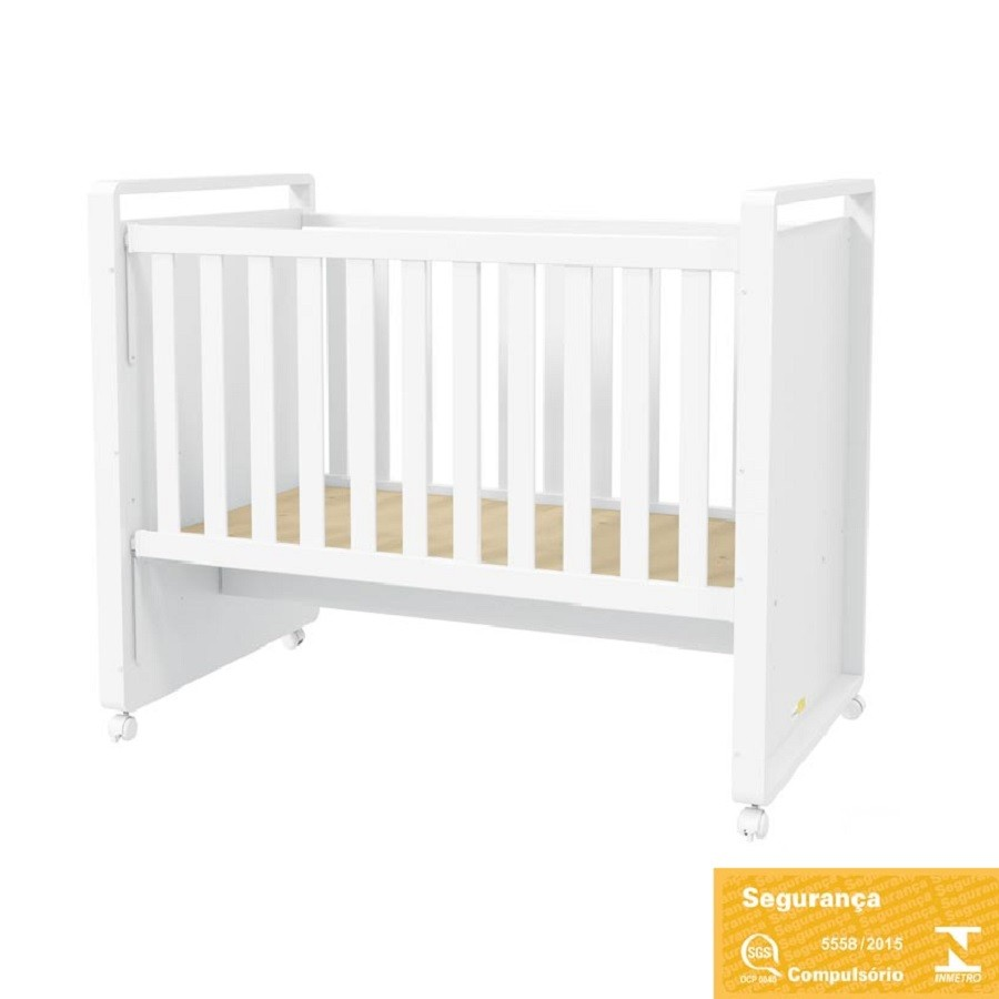Quarto Para Bebê Com Guarda Roupa 4 Portas Sistema De Toque, Cômoda E Berço Mini Cama Tutto Matic