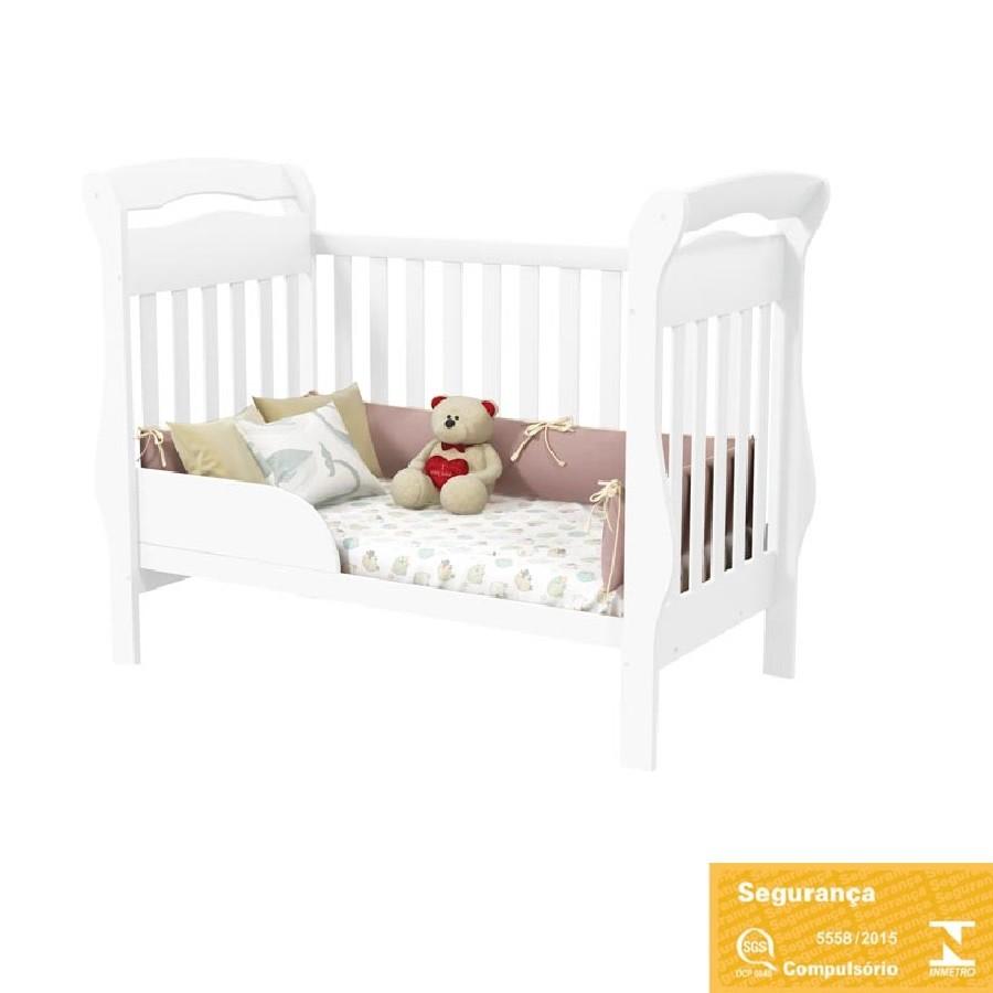 Jogo De Quarto Para Bebê Com Guarda Roupa + Cômoda Confort + Berço Mini Cama Bambini Matic