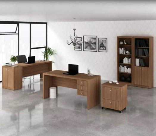 Mesa para Escritório de 3 gavetas  Tecno Mobili  ME4113