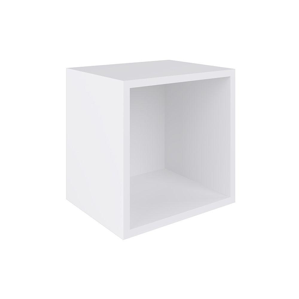 Nicho Cubo de parede 30x30 Branco BB 900 BC Completa Móveis