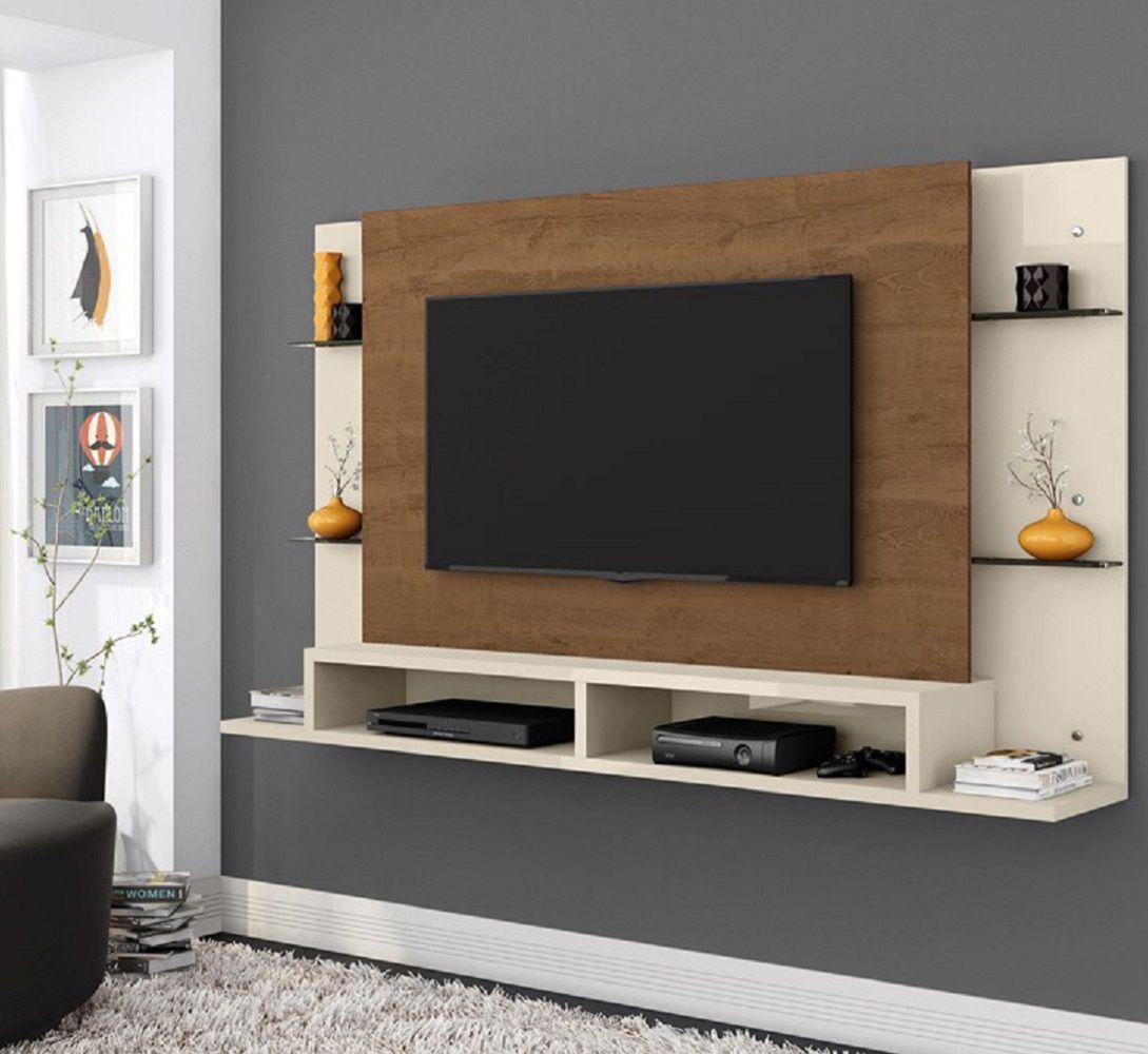 Painel Para Tv Até 55 Polegadas Malbec Off White/ Nature - Mobler