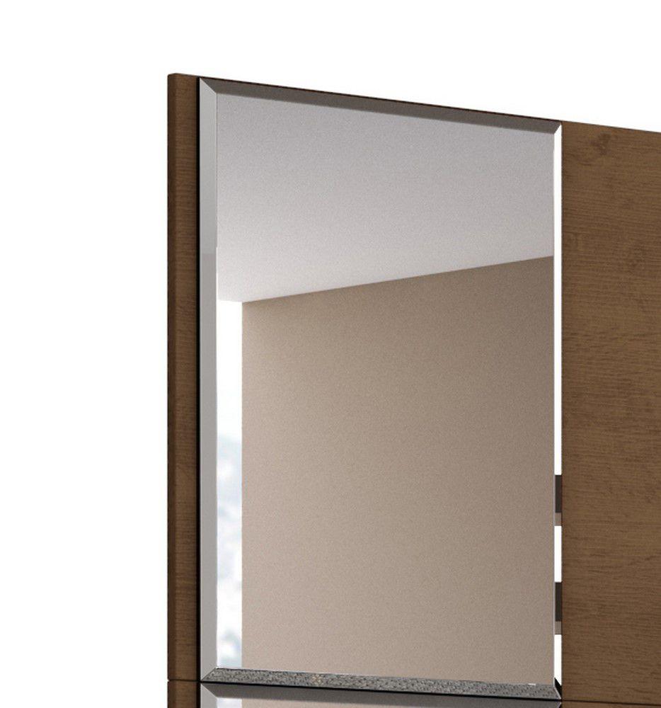 Painel Venice Para Tv 58 Polegadas Com Espelho Nature - Off white - Mobler