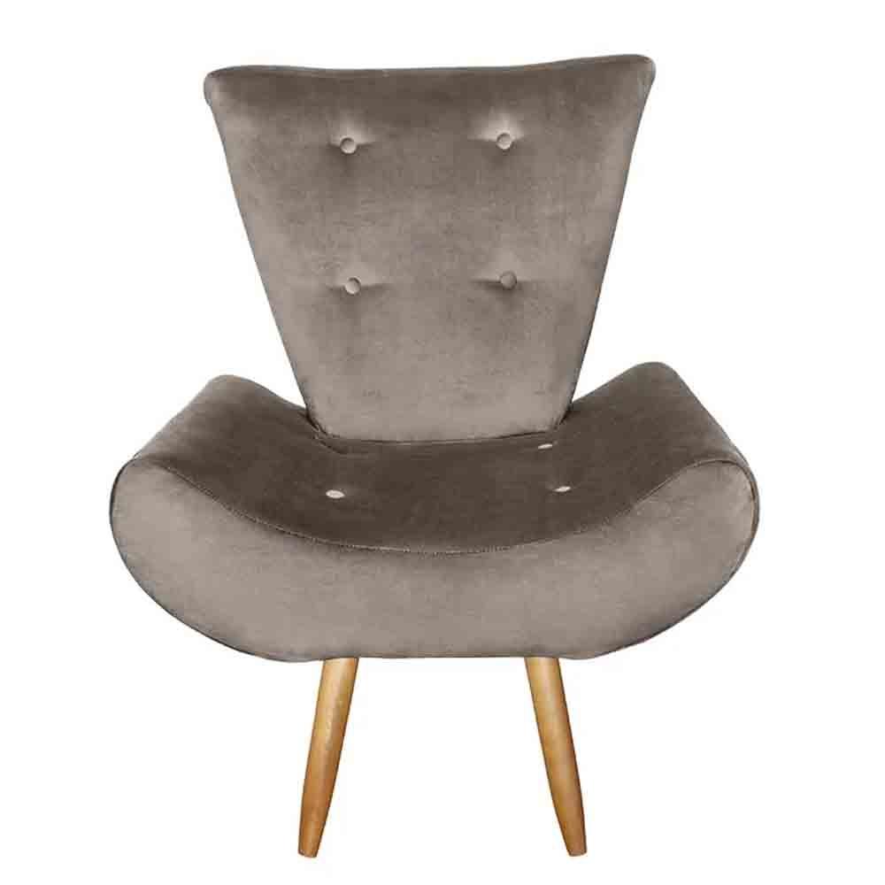 Poltrona Cadeira Decorativa Ane Marrom - Em Móveis