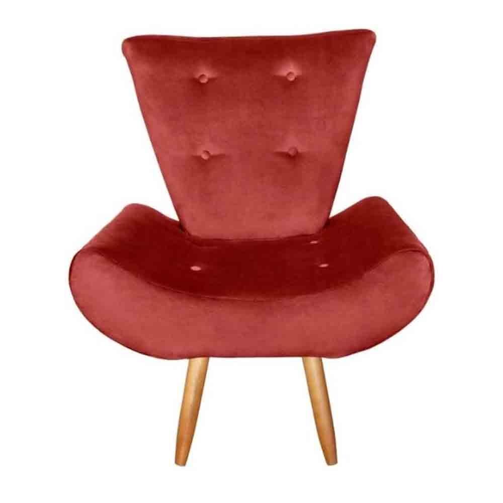 Poltrona Cadeira decorativa Ane Marsala - EM Móveis