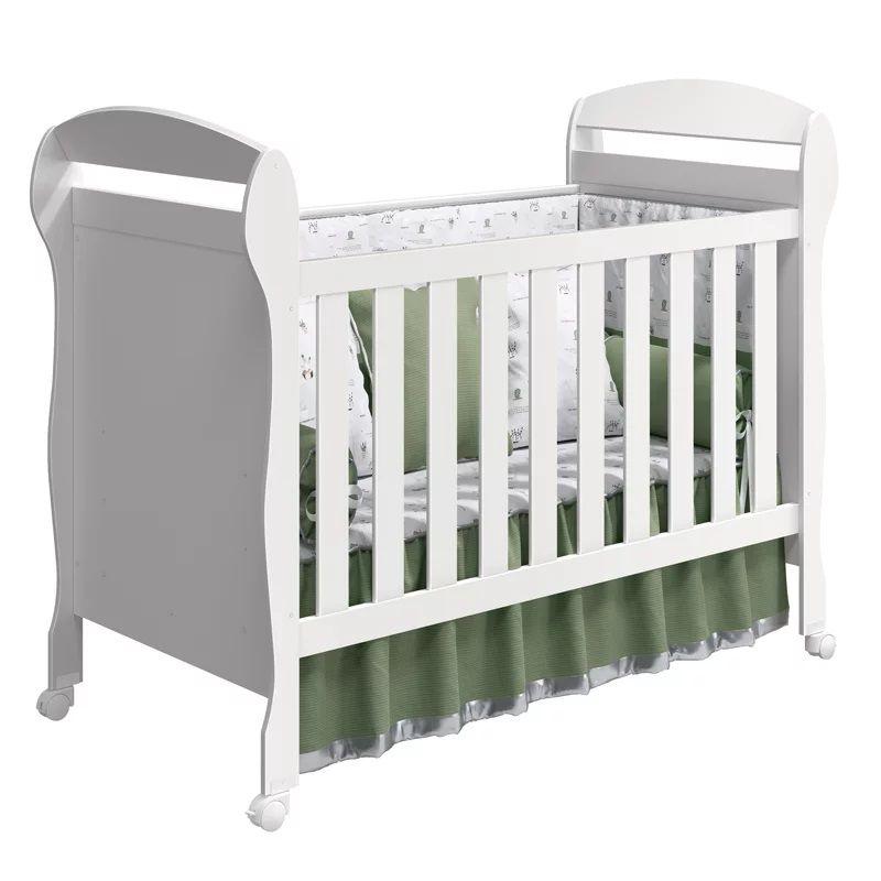 Quarto de Bebê Crytal Com Guarda Roupa 4 Portas + Berço Mini Cama - Reller
