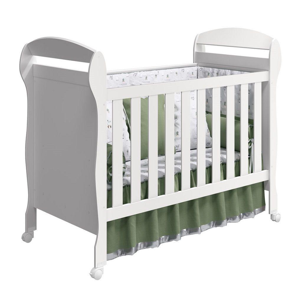Quarto Infantil com Berço Danny  + Guarda Roupa 4 Portas, Cômoda Livia - Phoenix Baby