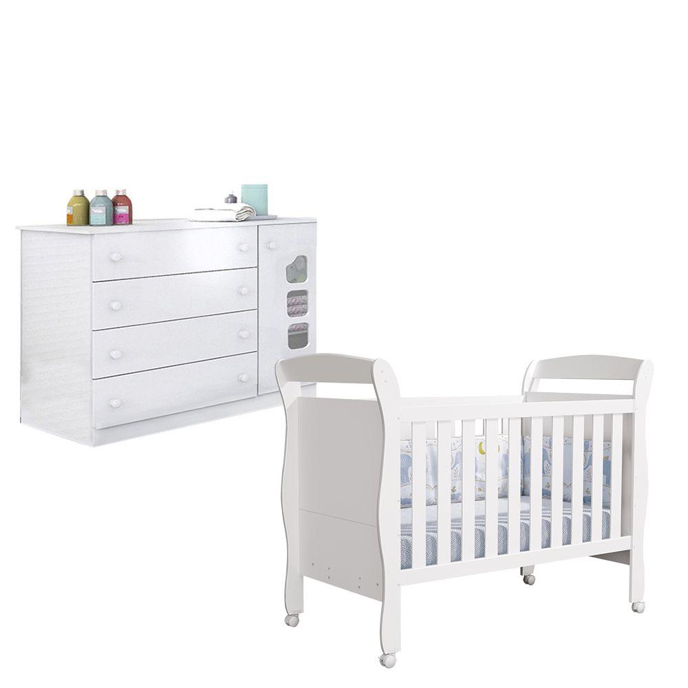 Quarto Infantil com Berço João + Cômoda Livia - Phoenix Baby