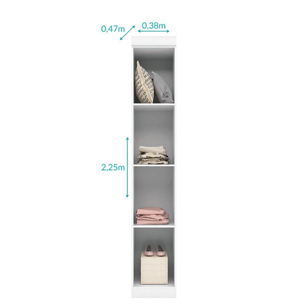 Quarto Infantil Com Guarda Roupa De 1 E 2 Portas + Modulo Aéreo + Cômoda Eloísa - Phoenix