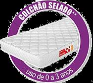 Quarto Infantil Emile Slim com Guarda Roupa 4 Portas + Cômoda + Berço Mini Cama 251 + Cochão