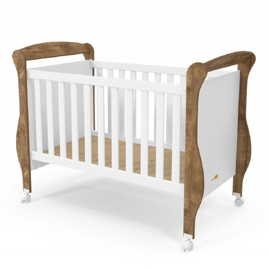 Quarto Para Bebê Com Guarda Roupas 4 Portas + Cômoda + Berço Mini Cama Smart Matic