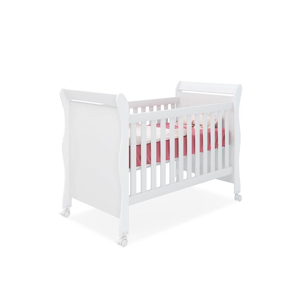 Quarto para Bebê Emile Slim com Guarda Roupa 4 Portas + Cômoda + Berço Mini Cama 251
