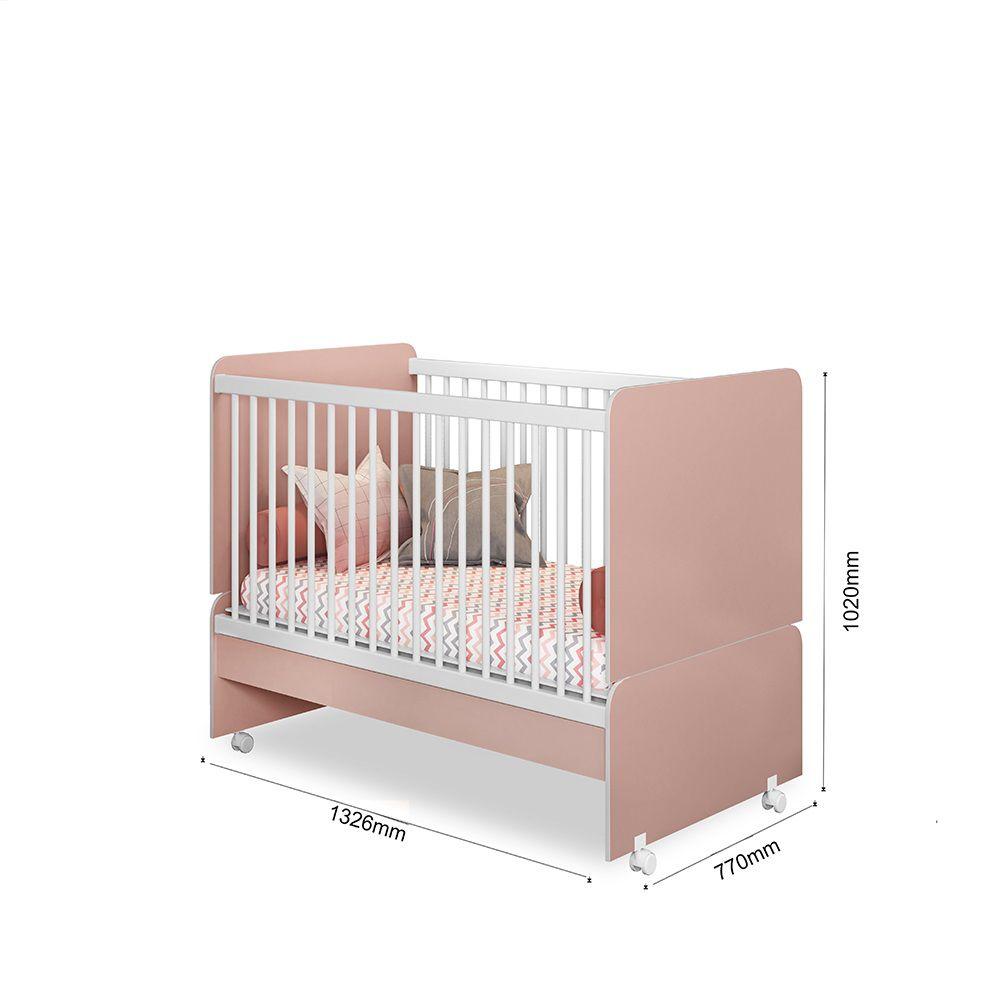 Quarto para Bebê Helena com Guarda Roupa + Cômoda + Berço Mini Cama  - Phoenix
