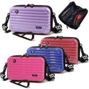 Bolsa Feminina Mini Bag Transversal Rígida Nova Alça Escrita