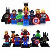 Bonecos Super Herois Vingadores Bloco De Montar