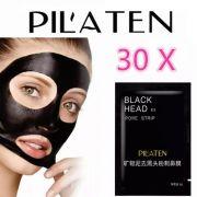 Kit 30 Máscara Preta Tira Cravos Nariz Black Head Pilaten