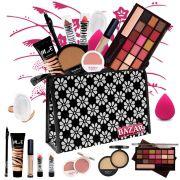 Kit de Maquiagem Completo Ruby Rose Luisance Fenzza Paleta 18 Cores Ruby Rose