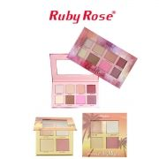 Kit iluminadores Ruby Rose Suncet Highlighter + Cheekflush LANÇAMENTO