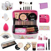 Maleta Completa com Maquiagens Paleta Belle Angel + muitos Itens  bz55