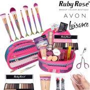 Maleta De Maquiagem Completa Avon Ruby Rose Pincel Sereia