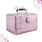 Maleta Maquiagem Bijuteria e Acessórios vazia Cisne lc5154 cor Rosa