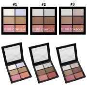 Paleta 6 cores Contorno SFR Color Blush, Bronzer, Highlight