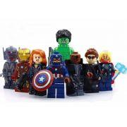 Vingadores Liga Da Justiça Kit 8 Boneco Super Herois