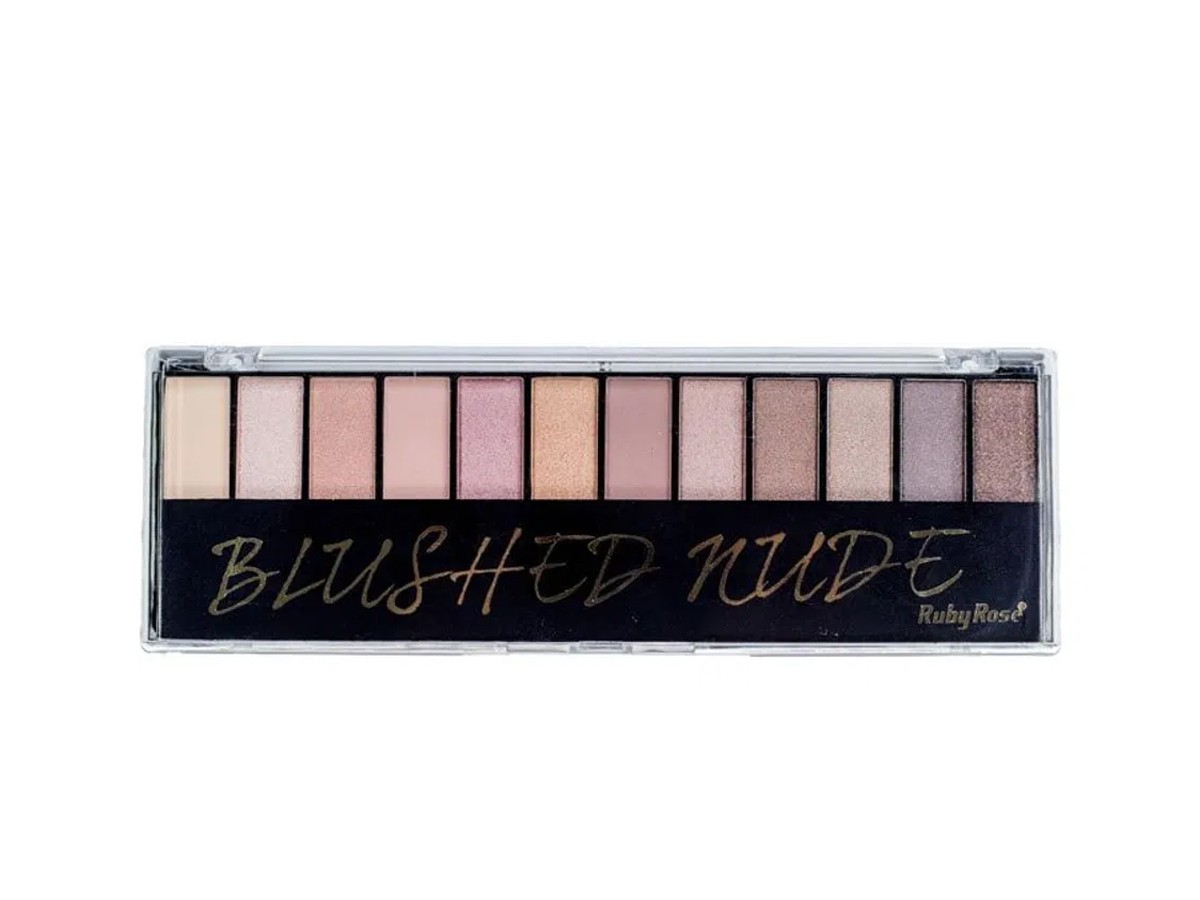 Paleta de Sombras Nude HB-9911 Ruby Rose   Mais Vaidosa