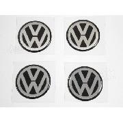Adesivo Emblema Roda Resinado Volkswagen 117mm Cl21